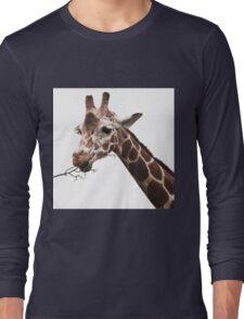 hungry giraffe Long Sleeve T-Shirt