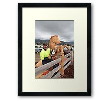 Meet Eddie the Chain Saw Sculpture - Royal ShowTasmania Framed Print