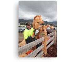 Meet Eddie the Chain Saw Sculpture - Royal ShowTasmania Canvas Print