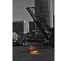 Bridge on Chicago river Photographic Print