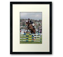 Up and Over - Royal Hobart Show Tasmania 2011 Framed Print