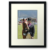 Two good looking subjects -  Royal Hobart Show 2011 Framed Print
