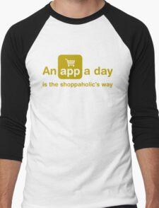 An app a day is the shoppaholic's way Men's Baseball ¾ T-Shirt