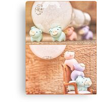 how many piggies dose it take to screw in a light bulb? Canvas Print