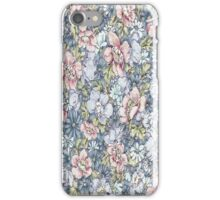 Pink Blue Floral iPhone Case/Skin