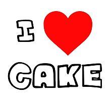 I Heart Cake Photographic Print