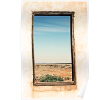 Through the window - South Australia ruins. Poster