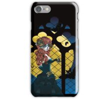 Day of the Dead girl and Gothic window  iPhone Case/Skin