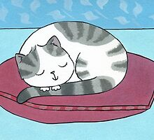 Cat on a Cushion by zoel