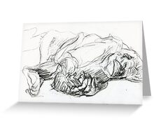 Reclining Primate Greeting Card