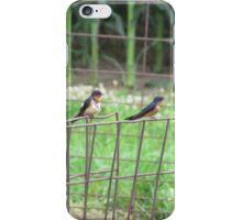 Birds on Fence iPhone Case/Skin