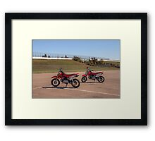"Honda ""Big Red"" Mini Bikes Framed Print"