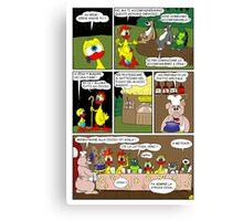 """Rick the chick  """"THE MAGIC SHELL (Il cuoco Ciccio) parte 24"""" Canvas Print"""