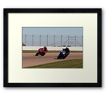 Three Motorcycles (Really) Framed Print
