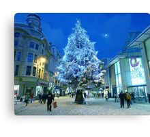 Christmas Shopping in Cardiff Canvas Print