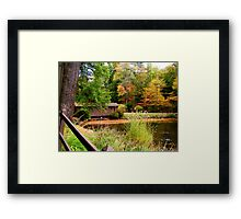 Fall Waterscapes V Framed Print