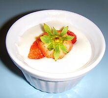 Strawberry topped desert by Detroit442