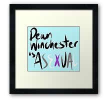 Asexual Dean Winchester Framed Print