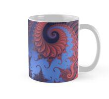 Red and blue fractal swirls Mug