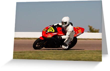 Number 117, Kawasaki Ninja, Red and Black by Paul Danger Kile