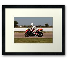 Number 117, Kawasaki Ninja, Red and Black Framed Print