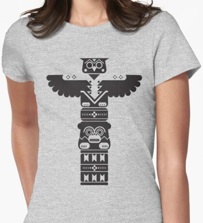 Totem Pole Womens Fitted T-Shirt
