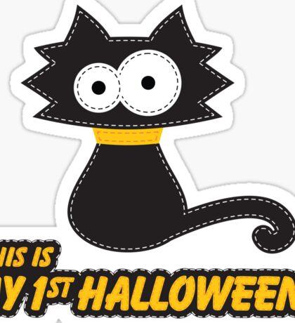 My First Halloween Black Cat Sticker