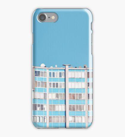 sky Blue building iPhone Case/Skin
