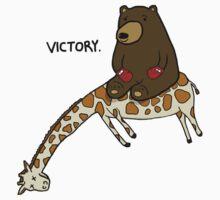 Bear Vs Giraffe - Knockout by rubblepubble