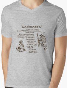 Good Morning Bilbo Mens V-Neck T-Shirt