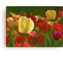 Tulips Bouquet Canvas Print
