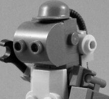 lego robot - black and white by YourHum