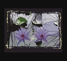 Lavender colored lotus tshirt. by Marilyn Baldey