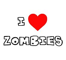 I Heart Zombies Photographic Print