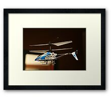 Toy Helicopter - In flight! Framed Print