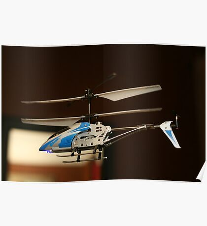 Toy Helicopter - In flight! Poster