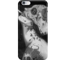 my lady 02 -black and white iPhone Case/Skin