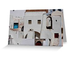 Santorini Streetscape Greeting Card