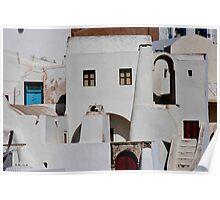 Santorini Streetscape Poster