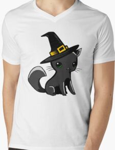 Myu the Candyfloss Cat... on Halloween! Mens V-Neck T-Shirt