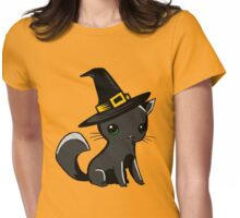 Myu the Candyfloss Cat... on Halloween! Womens Fitted T-Shirt