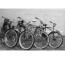 Vintage Bicycles Photographic Print