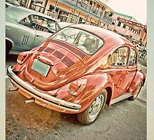 V Dub red bug by Michelle Anderson