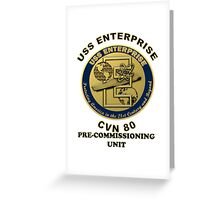 PCU Enterprise (CVN-80) Crest Greeting Card