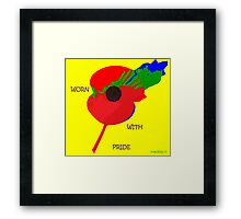 Abstract Art - Poppy 002 Framed Print