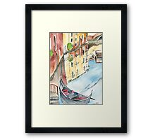 The Gondola Framed Print