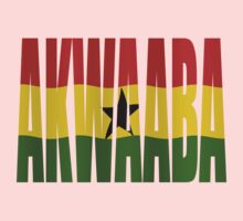 Akwaaba - You're Welcome - Twi + Ghana Flag by stuwdamdorp