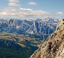View from Monte Lagazuoi, Dolomite Mountains, Italy by Andrew Jones