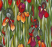 Autumn Iris Meadow iPhone 4 Case by purplesensation