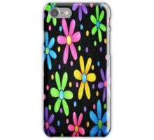 Black Funky Flowers iPhone 4 Case iPhone Case/Skin